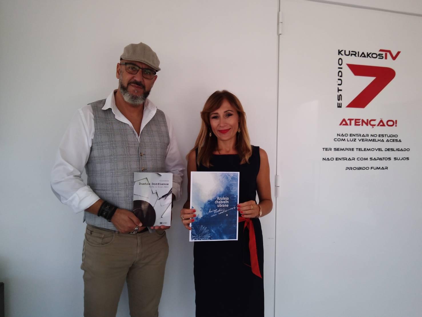 """O antologii poezji polsko- portugalskiej  """"Azulejo chabrem ubrane"""" w portugalskiej stacji telewizyjnej KuriakosTv"""